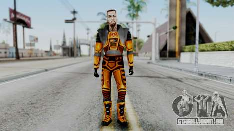 Gordon Freeman HEV SUIT from Half Life para GTA San Andreas segunda tela