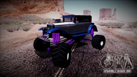 GTA 5 Albany Roosevelt Monster Truck para GTA San Andreas esquerda vista