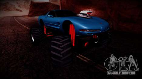 Chevrolet Corvette C5 Monster Truck para vista lateral GTA San Andreas