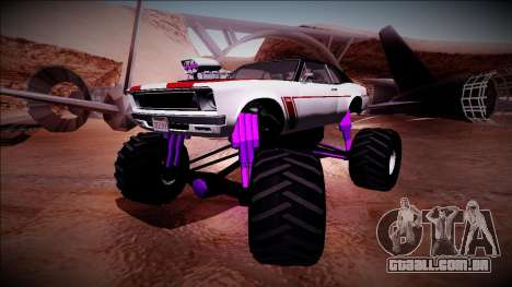 GTA 5 Declasse Tampa Monster Truck para GTA San Andreas traseira esquerda vista