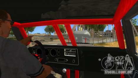1970 Chevrolet El Camino SS Drag para GTA San Andreas vista interior