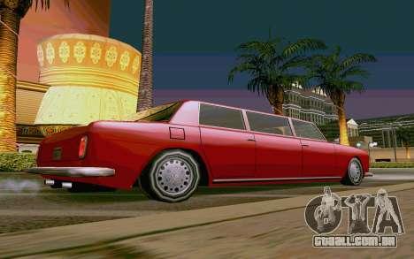 Stafford Limousine v2.0 para GTA San Andreas esquerda vista