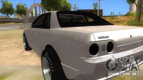 Nissan Skyline R32 Drag para GTA San Andreas traseira esquerda vista