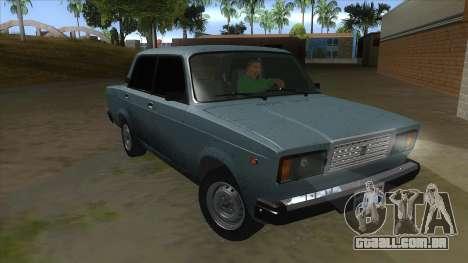 VAZ 2107 v1 para GTA San Andreas vista traseira