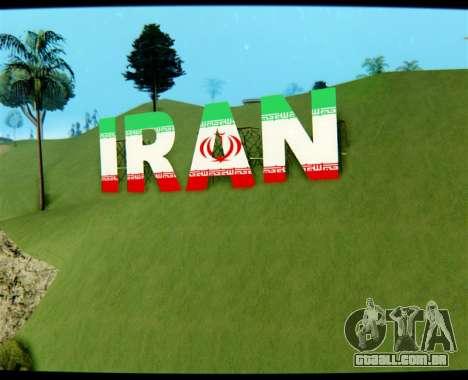 O IRÃ é a inscrição Vinewood para GTA San Andreas