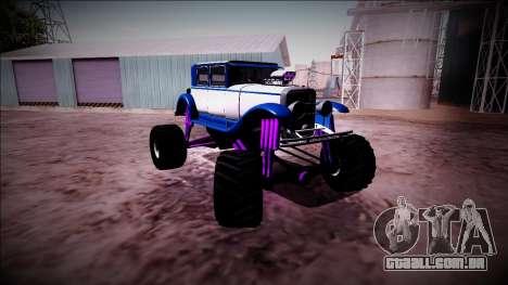 GTA 5 Albany Roosevelt Monster Truck para GTA San Andreas vista interior