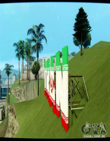 O IRÃ é a inscrição Vinewood para GTA San Andreas segunda tela