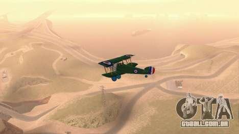 Sopwith Camel para GTA San Andreas vista direita