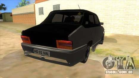Dacia 1310 Tunata para GTA San Andreas vista traseira