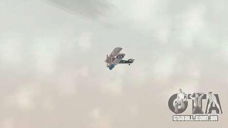 Sopwith Camel para GTA San Andreas vista traseira