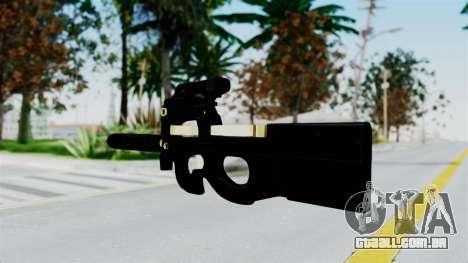P90 Gold Silenced para GTA San Andreas segunda tela