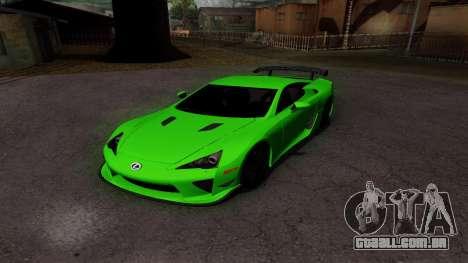 Lexus LFA para GTA San Andreas