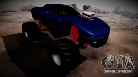 Chevrolet Corvette C5 Monster Truck para GTA San Andreas vista traseira