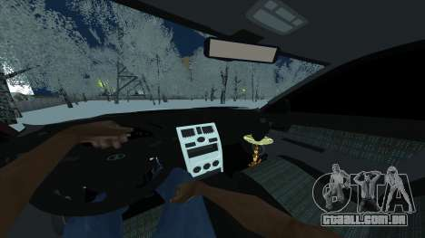 Lada 2170 Limousine para GTA San Andreas traseira esquerda vista