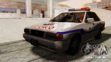 Nissan Sentra B13 2004 Patrol with a Salvadoran  para GTA San Andreas traseira esquerda vista