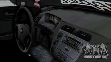 Honda Civic Vtec Special para GTA San Andreas vista direita