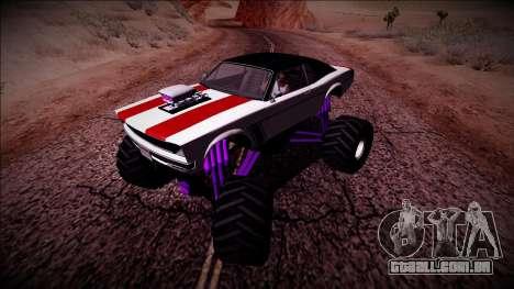 GTA 5 Declasse Tampa Monster Truck para GTA San Andreas vista traseira