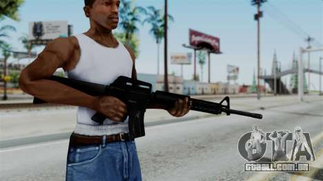 No More Room in Hell - M16A4 Carryhandle para GTA San Andreas terceira tela