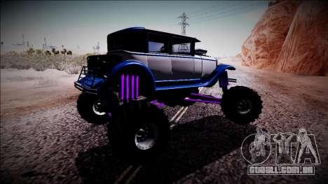 GTA 5 Albany Roosevelt Monster Truck para GTA San Andreas vista direita