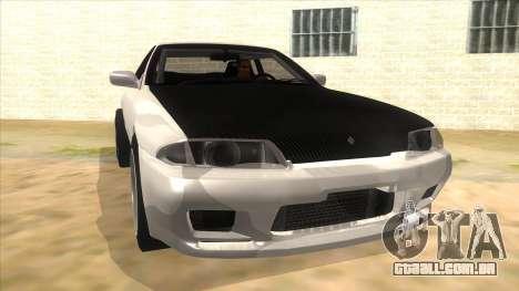 Nissan Skyline R32 Drag para GTA San Andreas vista traseira