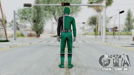 Power Rangers S.P.D - Green para GTA San Andreas terceira tela