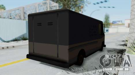 Boxville from Manhunt para GTA San Andreas traseira esquerda vista