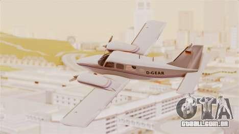 Piper Seneca II para GTA San Andreas esquerda vista