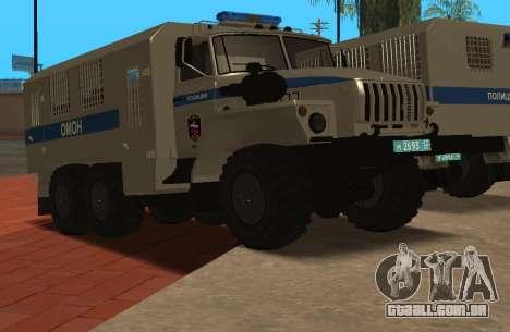 Ural 4320 de polícia de choque para GTA San Andreas