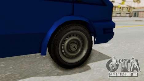 Zastava Rival Ice Cream Truck para GTA San Andreas traseira esquerda vista