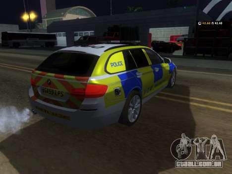 Jersey Polícia BMW 530d Touring para GTA San Andreas vista direita