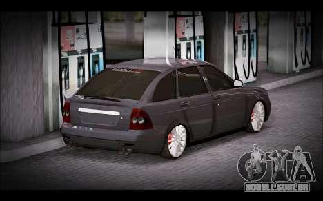 Lada Priora Bpan Version para GTA San Andreas esquerda vista