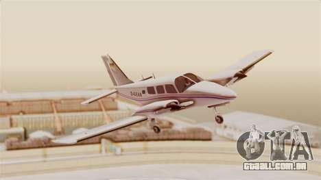 Piper Seneca II para GTA San Andreas traseira esquerda vista