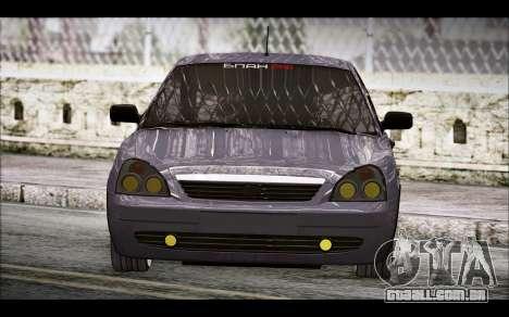 Lada Priora Bpan Version para GTA San Andreas traseira esquerda vista