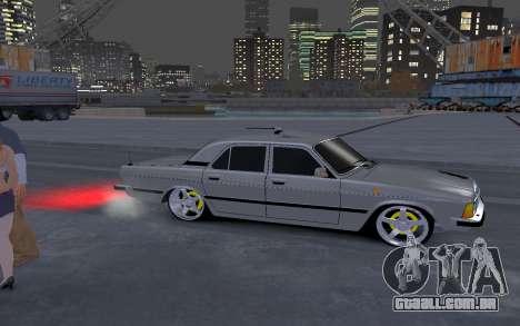 GAZ 3102 para GTA 4 vista de volta