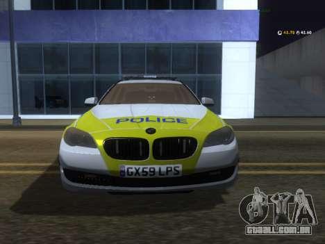 Jersey Polícia BMW 530d Touring para GTA San Andreas esquerda vista