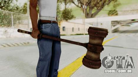Skyrim Iron Warhammer para GTA San Andreas segunda tela