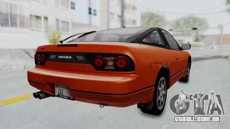 Nissan Sileighty - Stock para GTA San Andreas esquerda vista