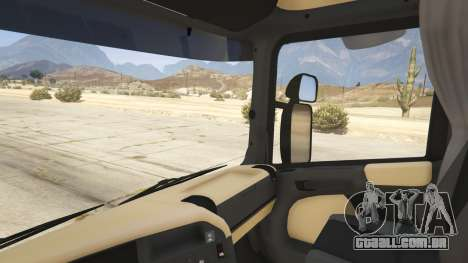 GTA 5 Scania R440 traseira direita vista lateral