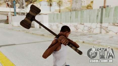 Skyrim Iron Warhammer para GTA San Andreas terceira tela
