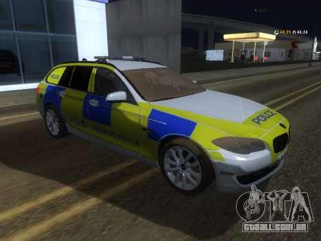 Jersey Polícia BMW 530d Touring para GTA San Andreas
