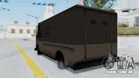 Boxville from Manhunt para GTA San Andreas esquerda vista