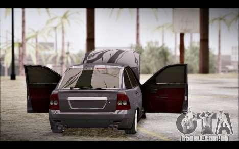 Lada Priora Bpan Version para GTA San Andreas vista interior