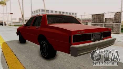 Chevrolet Caprice Classic 1986 v2.0 para GTA San Andreas esquerda vista