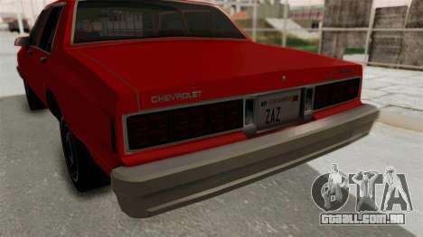 Chevrolet Caprice Classic 1986 v2.0 para GTA San Andreas vista superior