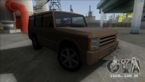 New Huntley para GTA San Andreas esquerda vista