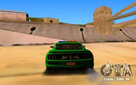 Ford Mustang Iranian Police para GTA San Andreas traseira esquerda vista