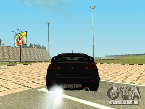 Mitsubishi Lancer Evolution X GVR Tuning para GTA San Andreas traseira esquerda vista