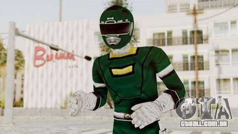 Power Rangers Turbo - Green para GTA San Andreas