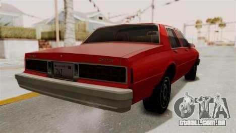 Chevrolet Caprice Classic 1986 v2.0 para GTA San Andreas vista direita