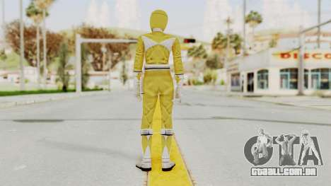 Mighty Morphin Power Rangers - Yellow para GTA San Andreas terceira tela